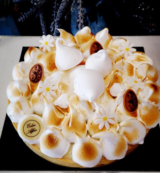 Passievrucht citroen merengue taart
